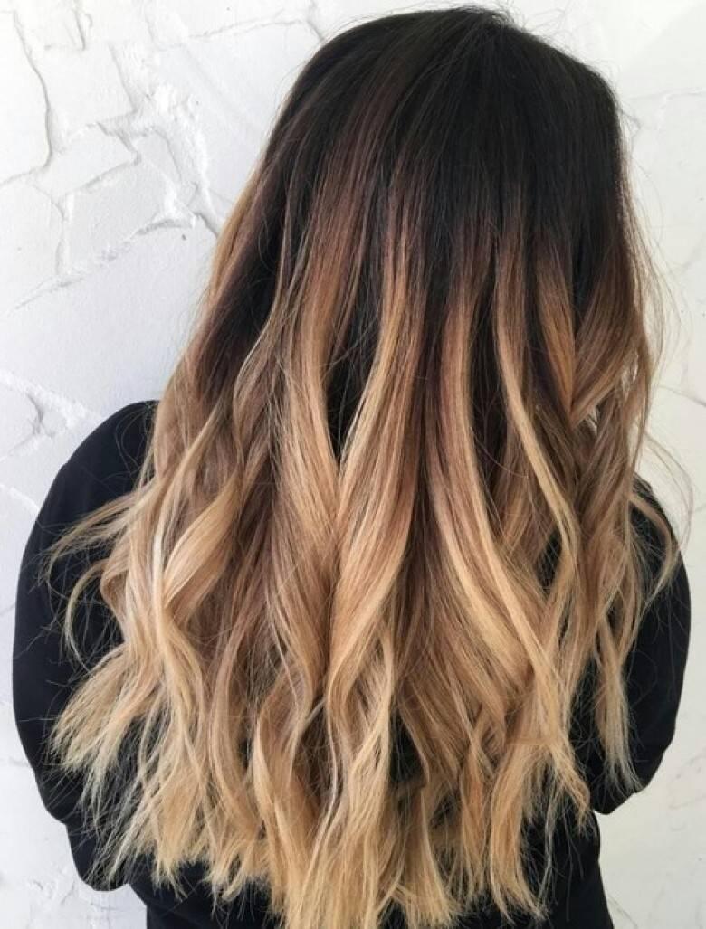 Ombré hair miel, blond, rouge, brun, blanc, gris, violine