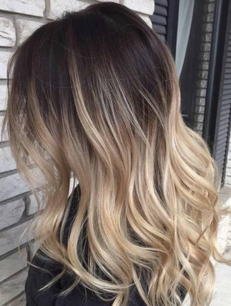 Bronde châtain, blond, caramel, miel sur cheveux longs, mi
